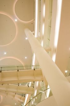 Interior View Of A Public Building Royalty Free Stock Image