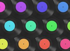 Free Gramophone Disks Background Royalty Free Stock Photography - 8623037