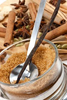 Free Cinnamon Sticks,Cardamom,vanilla Bean And Star Ani Stock Photo - 8623480
