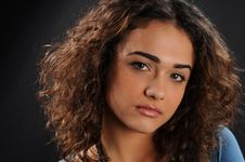 Free Beautiful Model With Curly Hair Royalty Free Stock Photos - 8623638