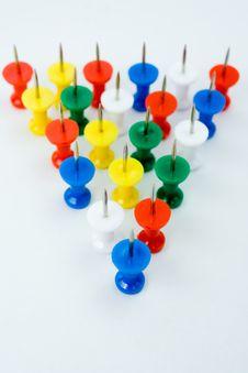 Free Push Pins Formation Stock Photo - 8623650