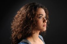 Free Beautiful Model With Curly Hair Stock Photos - 8623663