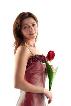 Girl In Evening Dress Stock Image