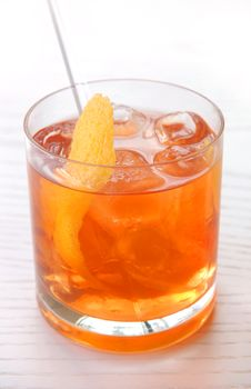 Free Alcoholic Cocktail With Whisky Royalty Free Stock Photography - 8623917