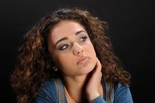 Free Young Beautiful Woman S Portrait Royalty Free Stock Photo - 8623945