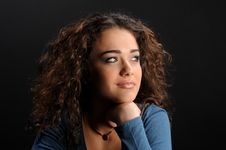Free Beautiful Model With Curly Hair Royalty Free Stock Image - 8623946