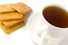 Free Cup Of Tea, Sugar And Cookies Stock Photo - 8623970