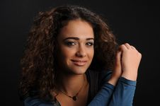 Free Beautiful Model With Curly Hair Royalty Free Stock Images - 8623989