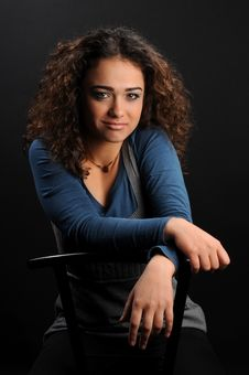 Free Beautiful Model With Curly Hair Royalty Free Stock Photography - 8624007