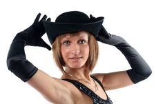 Free Lovely Yong Woman In Hat Royalty Free Stock Photography - 8624027