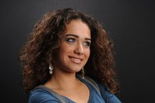Free Beautiful Model With Curly Hair Stock Photography - 8624212