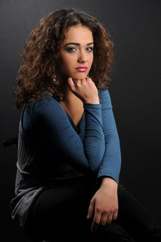 Free Beautiful Model With Curly Hair Royalty Free Stock Photos - 8624278
