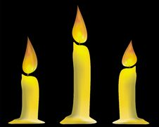 Free Three Candles Isolated Stock Images - 8624294