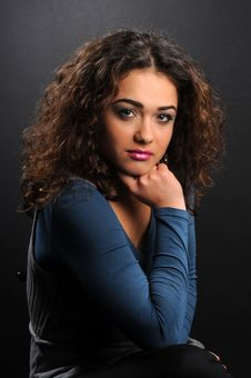 Free Beautiful Model With Curly Hair Stock Photos - 8624303