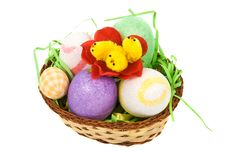 Free Easter Basket With Eggs And Chicken Royalty Free Stock Images - 8624659