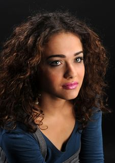 Free Beautiful Model With Curly Hair Stock Images - 8624674
