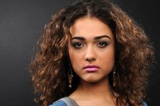 Free Beautiful Model With Curly Hair Royalty Free Stock Photos - 8624708