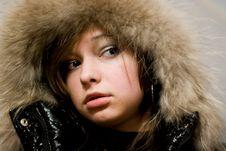 Free Girl With Fur Stock Photos - 8624833