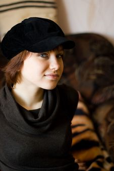 Free Girl In Cap Stock Photography - 8624862