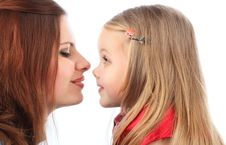 Free Mum With The Daughters Stock Photography - 8624952