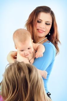 Free Mum With The Daughters Royalty Free Stock Photo - 8624955