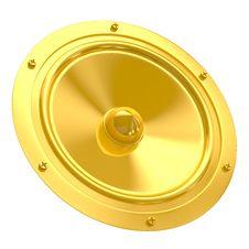 Free Golden Speaker Royalty Free Stock Photo - 8625075