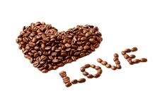 Free Heart Made Of Coffee Beans Stock Photos - 8625523