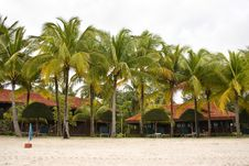 Beach Bungalows Stock Photography