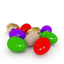 Free Colorful Easter Eggs Stock Photography - 8628042