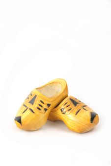 Free Yellow Wooden Shoes From The Netherlands Stock Photography - 8628122