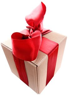 Free Gift Box With Red Ribbon Stock Photos - 8629383