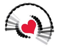 Free Abstract Retro Vector Heart Halftone Wave Stock Photo - 8629500