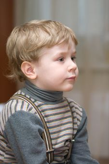 Free Cute Little Boy Looking Forward Royalty Free Stock Photo - 8629855