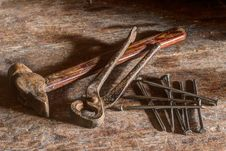 Free Brown Hammer Near Silver Nail Royalty Free Stock Photo - 86221105