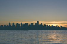 Free Silhouette Of City During Sunset Stock Image - 86224311