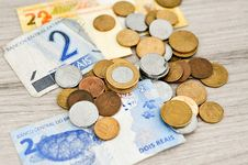 Free Brazil Money On Wooden Table Royalty Free Stock Images - 86226749