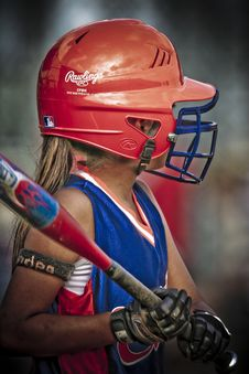 Free Girl Playing Baseball Royalty Free Stock Photos - 86227808