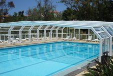 Free Partly Covered Swimming Pool Royalty Free Stock Photos - 86230468