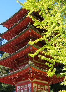 Free Temple In Japanese Tea Garden, San Francisco Royalty Free Stock Photography - 86245227