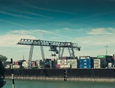 Free Cargo Container Crane In Shipping Port Royalty Free Stock Photo - 86246035