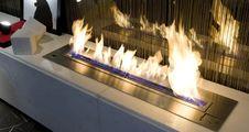 Free Burning Bio Ethanol Fireplace Stock Photo - 86246140