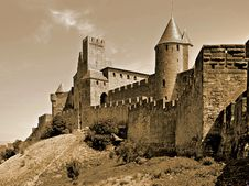 Free City Walls Of Carcassonne Stock Photography - 86246712