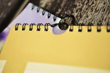 Free Two Spiral Bound Notebooks Stock Photography - 86247662