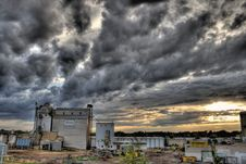 Free Farm Buildings Against Stormy Skies Stock Images - 86247764
