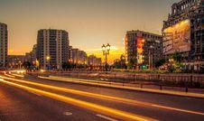 Free City Streets At Night Royalty Free Stock Photo - 86250555