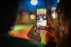 Free Close-up Of Woman Using Mobile Phone At Night Royalty Free Stock Image - 86251666