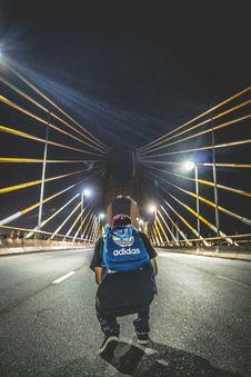 Free Man In Bridge Stock Photos - 86253373