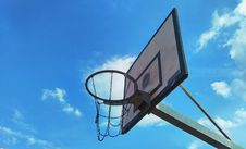 Free Basketball Backboard Outdoors Royalty Free Stock Image - 86258576