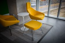 Free Modern Yellow Chairs Stock Images - 86282734