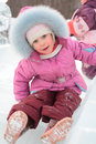 Free Girl Rolls Down On Ice Slope Royalty Free Stock Images - 8632199